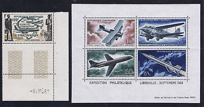 Gabon 1961/2 - 2 Airmail issues unmounted mint SG184 & SGMS 193