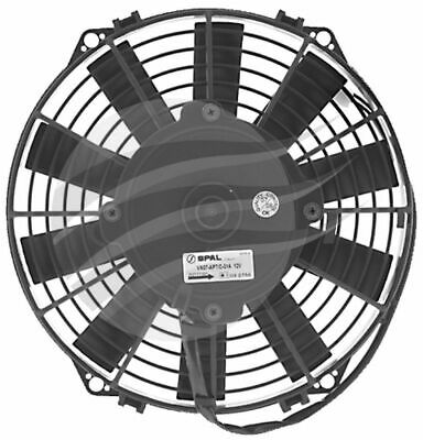 SPAL THERMO FAN 9 Inch (225MM) PULLER ELECTRIC 12V 624CFM STRAIGHT BLADE