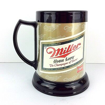 Miller High Life The Champayne of Beers Insulated Plastic Beer Mug
