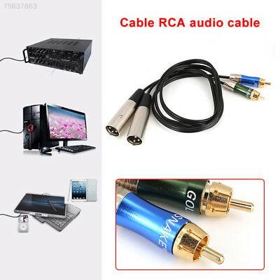 3BE9 XLR To RCA Audio Cable Dual XLR Amplifiers Male To Male 1M Audio Cord 3pin
