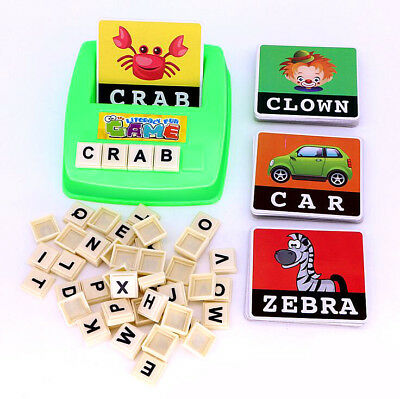 Literacy Scrabbler Early Education Puzzle Toys Xmas Gift - Free Shipping AP