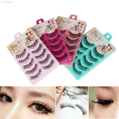 CA29 Natural Sparse Cross Eye Lashes Extension Makeup Long False Eyelashes Thick