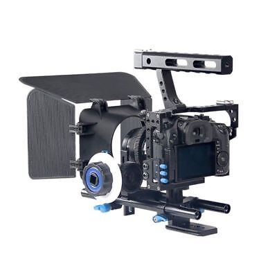 Camera Cage Video Stabilizer & Rod Rig Matte Box for Sony A7 Canon EOS Panasonic