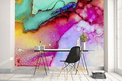 Wall Mural Photo Wallpaper Image EASY-INSTALL Fleece Colorful Abstraction Art