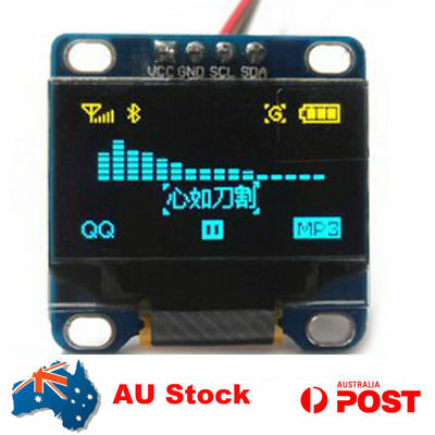 AU 0.96 Inch I2C IIC SPI 128X64 OLED LCD LED Display Module For Arduino 51