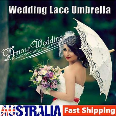 Vintage Bridal Lace Umbrella Women Wedding Party Photography Parasol Decoration