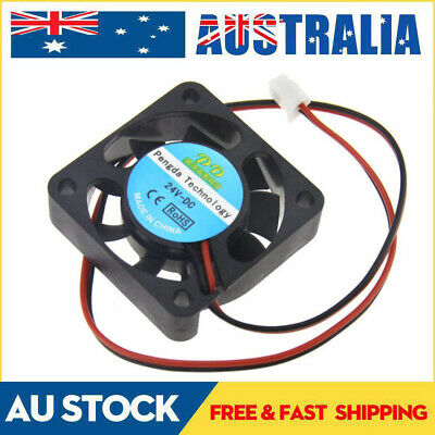 AU 2 Pin Extruder Brushless Cooling Fan 24V 40mm 3D Printer RepRap Mendel Prusa