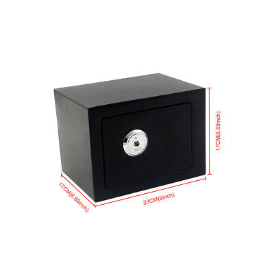 High Security Safes Key Lock Safety Strong Steel Box Home Office Money/Cash Safe