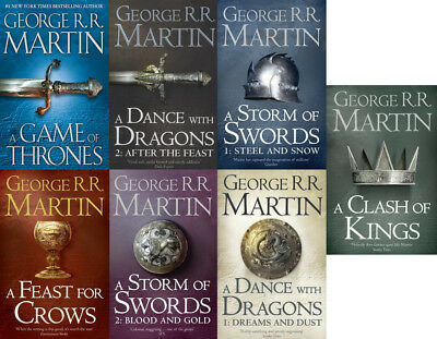 George R. R. Martin Collection - Game of Thrones Series (All 7 Books Set)