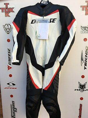Dainese T. Racing 1 piece race suit with hump uk 40 euro 50 mint