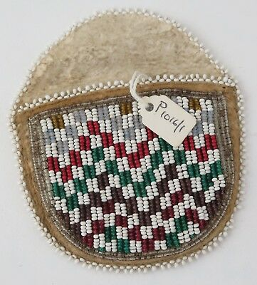 Native American Indian Beaded watch case. PROVENANCE