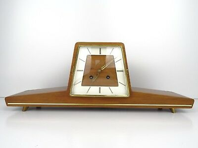 German JUNGHANS Design Vintage Antique Mantle Mantel Clock (Kienzle Era)