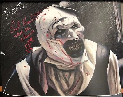 David Howard Thornton Signed 11x14 Artwork Print Terrifier Art The Clown DOTD!!!