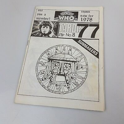 Vintage Doctor Who Fanzine TARDIS No.8 December 1977 - Tom Baker DWAS