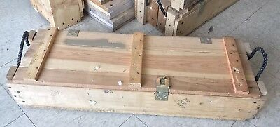 105 Mm Howitzer Us Army Wooden Ammuntion Ammo Crate Wood Box