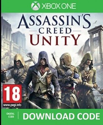 Assassins Creed Unity XBOX ONE DIGITAL DOWNLOAD Full Game redeem on Xbox Live