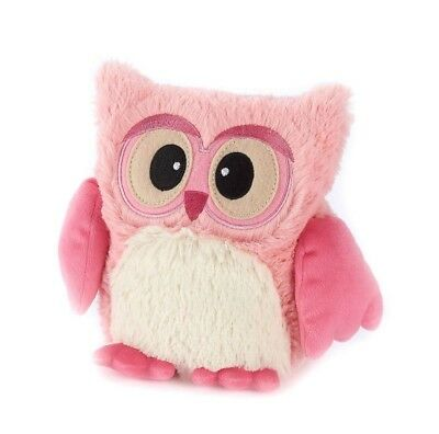 "Warmies 10"" Pink Hooty Owl Microwavable Heatable Cozy Lavender Scented Intelex"