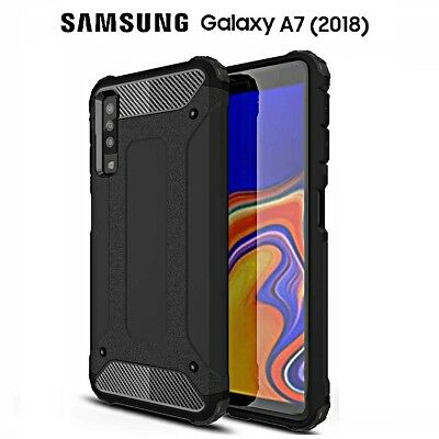 COVER per Samsung Galaxy A7 2018 CUSTODIA Genuine Hybrid Tough ARMOR RUGGED SLIM