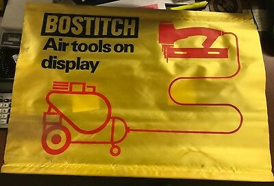 "Bostitch Air Tools on Display Sign / Flag - 27.5"" x 19.5"""