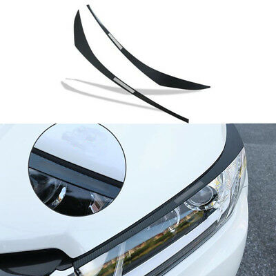 Carbon Stainless front head light Eyebrow cover trim For Toyota Highlander 2018