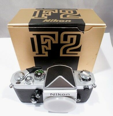 NEW OLD STOCK  Nikon F2 Eyelevel 35mm Body SILVER  w/ DE-1 IN BOX