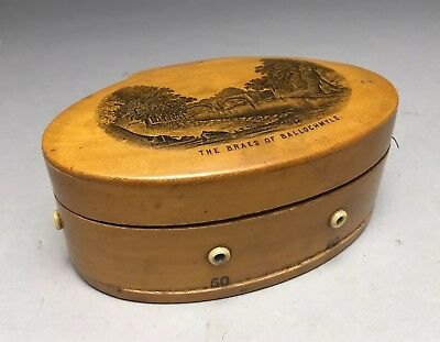 Fine Scottish Mauchline Ware Sewing Thread Box The Beaes Of Ballochmyle