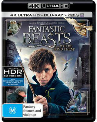 Fantastic Beasts  and Where to Find Them (4K UHD/Blu-ray/UV) = NEW Blu-Ray