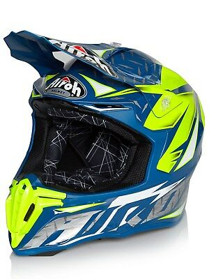 Airoh Iron blau Twist MX Helm