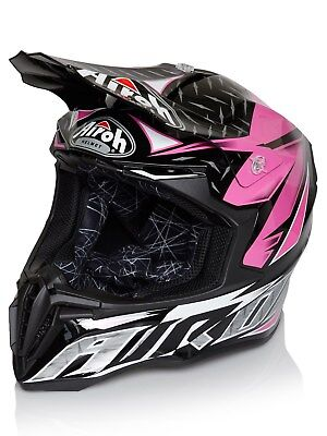 Airoh Iron rosa Twist MX Helm