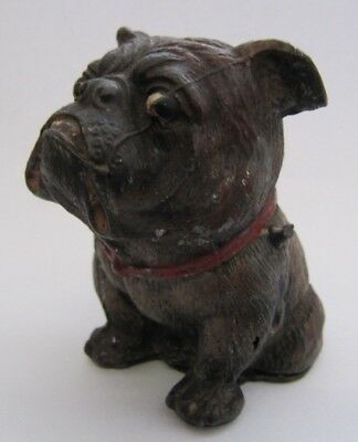 Vintage Antique Hollow Lead Metal English Bulldog Sitting Pose 1920-30's Figure
