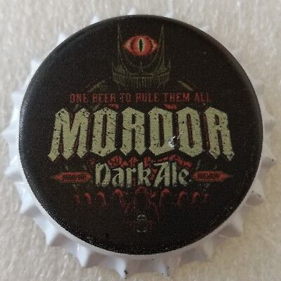 Fantasy Novelty Uncrimped Beer Bottle Cap Mordor Sauron The Lord of the Rings