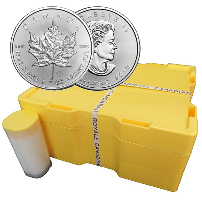 Lot of 500 - 2019 $5 Silver Canadian Maple Leaf 1 oz Brilliant Uncirculated Mons