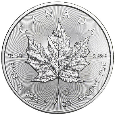 2019 $5 Silver Canadian Maple Leaf 1 oz Brilliant Uncirculated