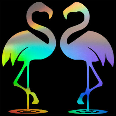 2pcs Flamingo Couple Sticker Car Window Laptop Wall Bumper JDM Vinyl Decal