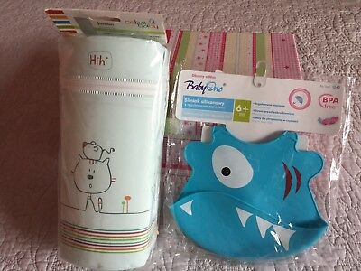 Thermal Baby Feeding Insulate Bottle Bag Thermobox Milk Warmer + SILICONE BIB