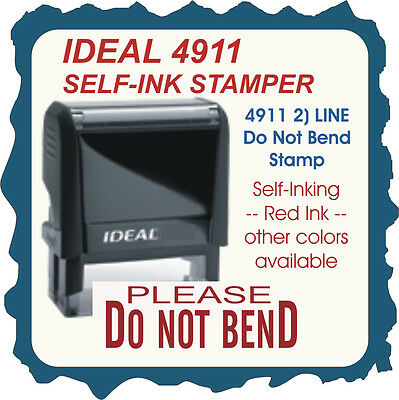 Do Not Bend, Trodat / Printy Custom Shipping/Office/ Business Stamp 4911 Red Ink