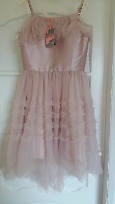 BNWT Monsoon Miranda Prom Party Bridesmaid Dress Age 12 13 14 Years Girls pink F