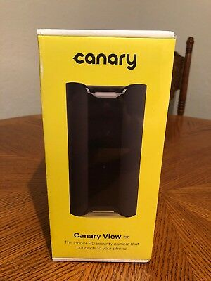 Canary View HD Indoor 1080p Wide Security Camera Motion Detection 2 Way Audio