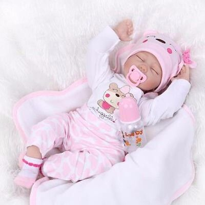 """Reborn Girl 22"""" Bebe Baby Doll Clothes Newborn Clothing Set Not Included Doll"""