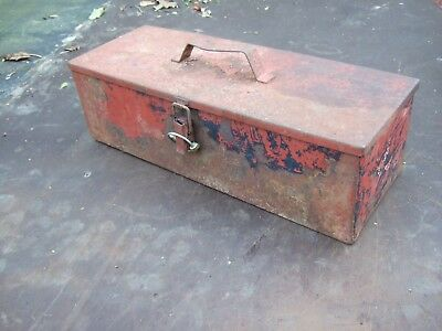 Tractor / spanner toolbox spares container match plough storage box