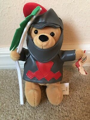 Disney Store Winnie the Pooh Knight in Armor Bean Bag Plush Stuffed Collectible
