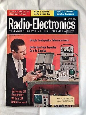 RADIO-ELECTRONICS MAGAZINE SEPTEMBER 1963 Vintage Issue Television Radio Hi  Fi