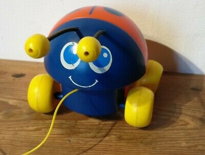 1982 Fisher price lady bug #695 pull along string toy