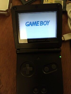 2 x Game Boy Advance SP Black Silver Game Case Connector Charger Handheld System