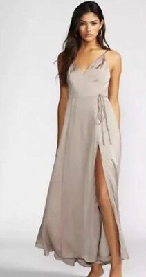 1218306196 FREE PEOPLE FAME and Partners Floral Queen Ann Maxi Dress Gown Size ...