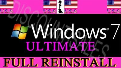 (110+ sold) - Microsoft Windows 7 Ultimate - INSTALL*Restore*Repair 32 64 (8-10)