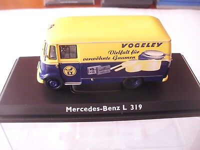 Mercedes-Benz L 319  Vogeley  Schuco  in blau-gelb 1:43