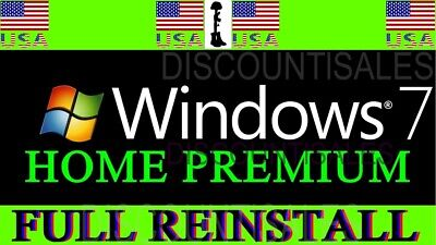 Microsoft Windows 7 Home Premium (HP) FULL INSTALL**Restore**Repair**-(8-10)