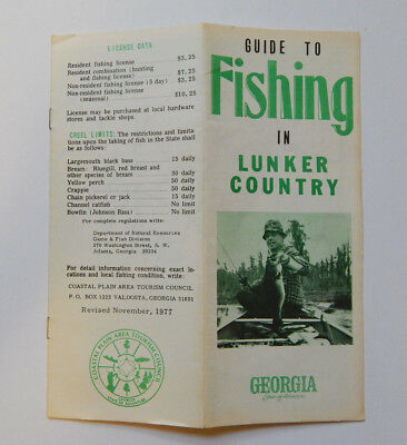 Guide to Fishing in Lunker Country Georgia (1977)