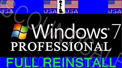 (230+ Sold) - Microsoft Windows 7 Professional (Pro)-INSTALL*Restore*Repair*-usb